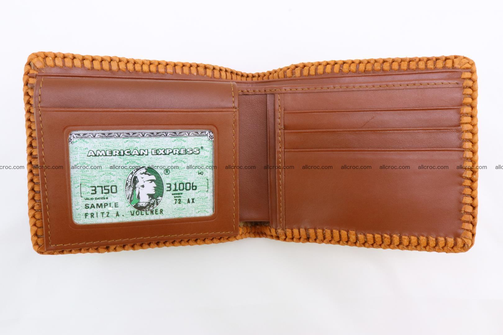 Genuine crocodile hornback wallet 137 Foto 7