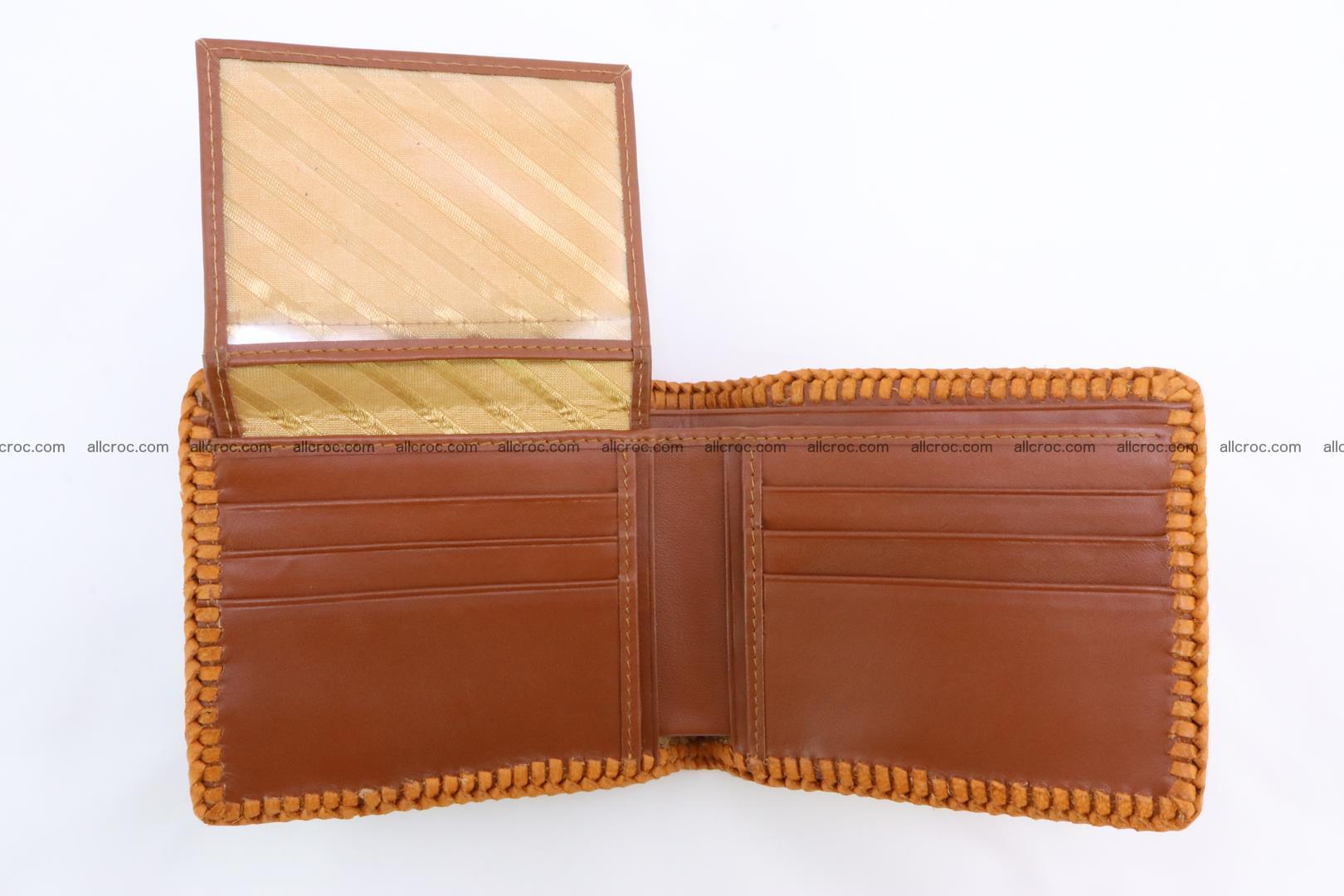 Genuine crocodile hornback wallet 137 Foto 8