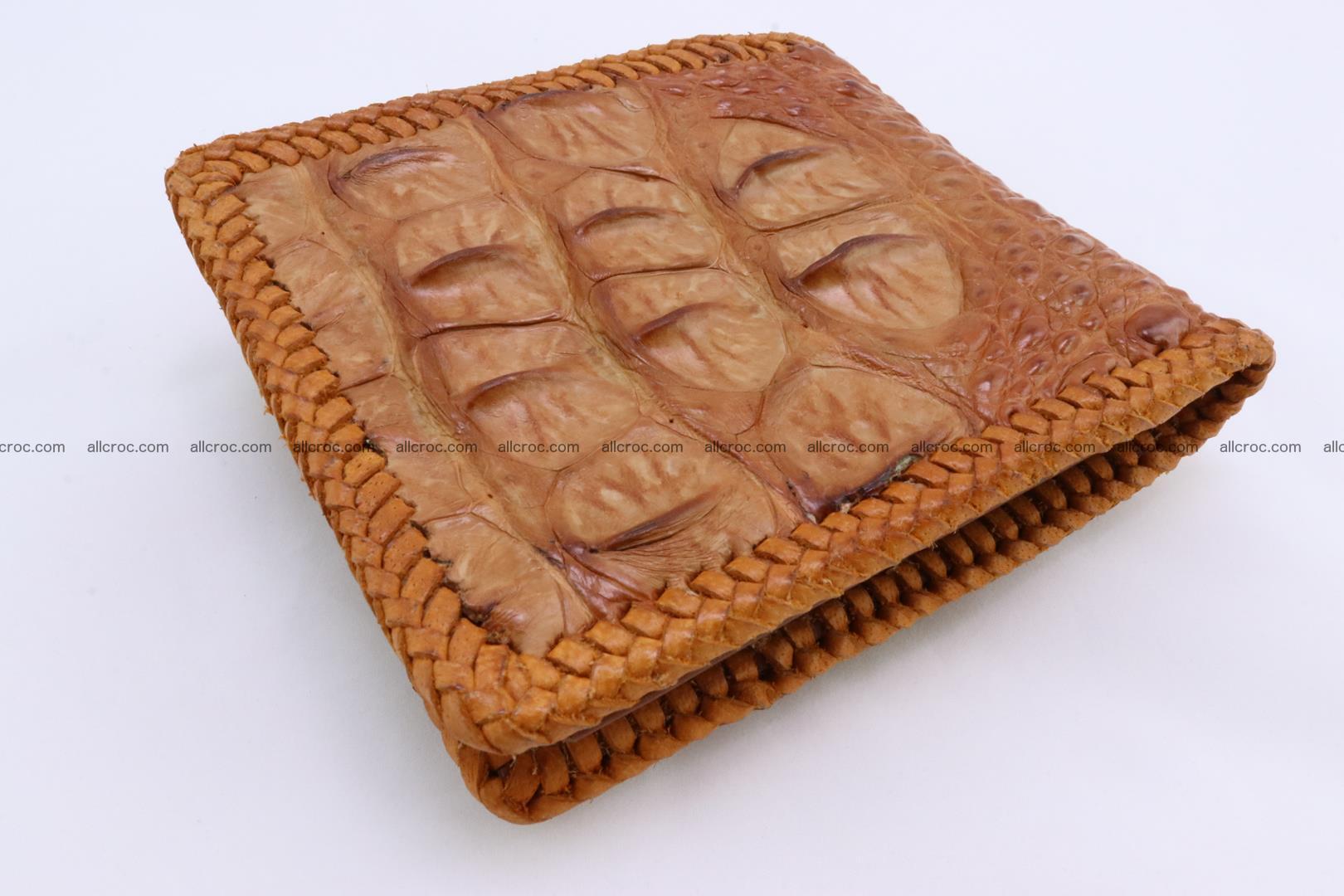 Genuine crocodile hornback wallet 136 Foto 3