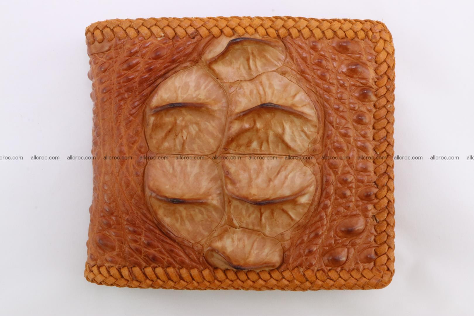 Genuine crocodile hornback wallet 136 Foto 4