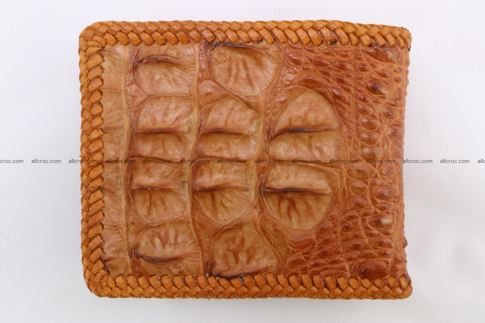 Genuine crocodile hornback wallet 136 Foto 5