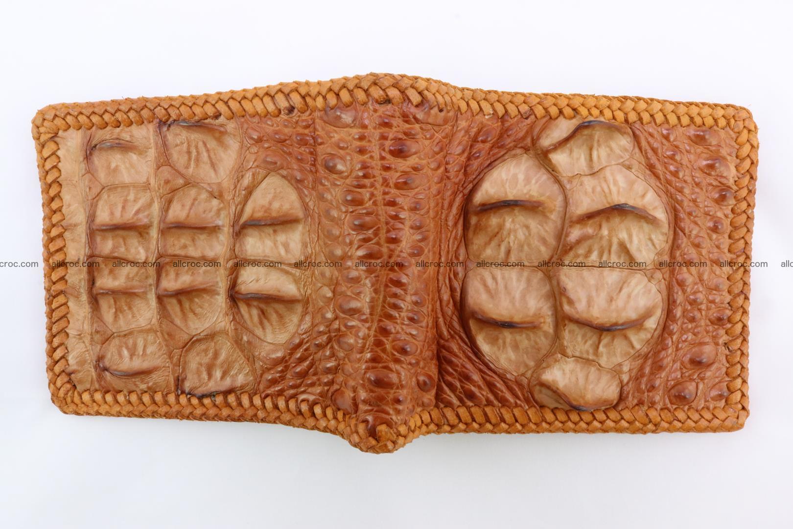 Genuine crocodile hornback wallet 136 Foto 2