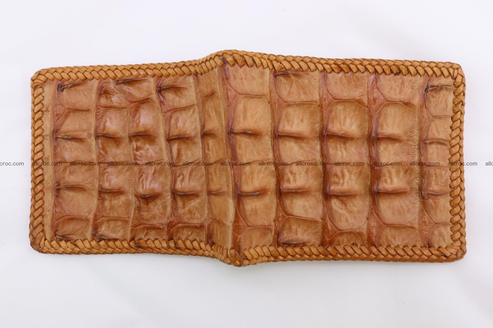 Genuine crocodile hornback wallet 137 Foto 5