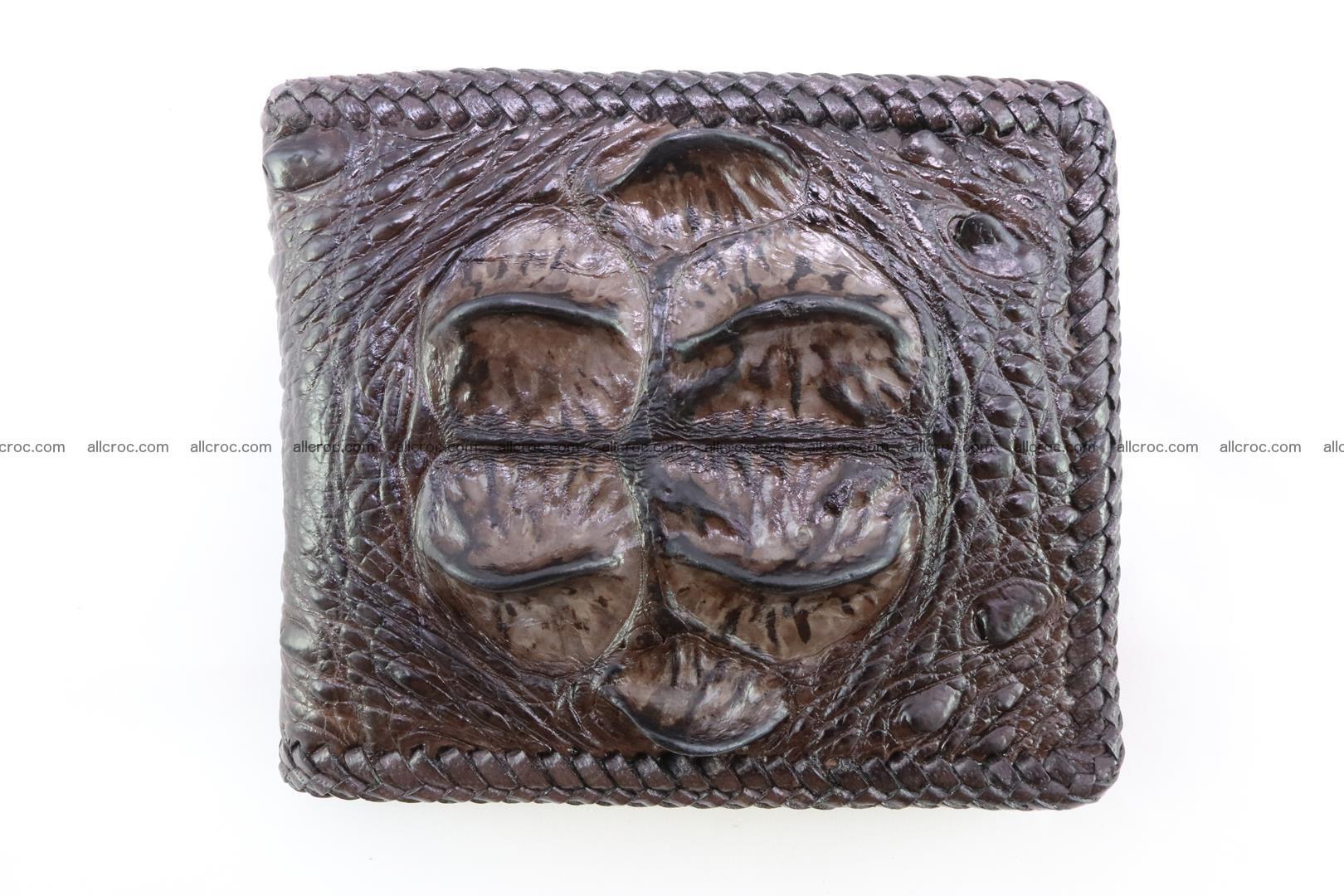 Genuine crocodile hornback wallet 116 Foto 3