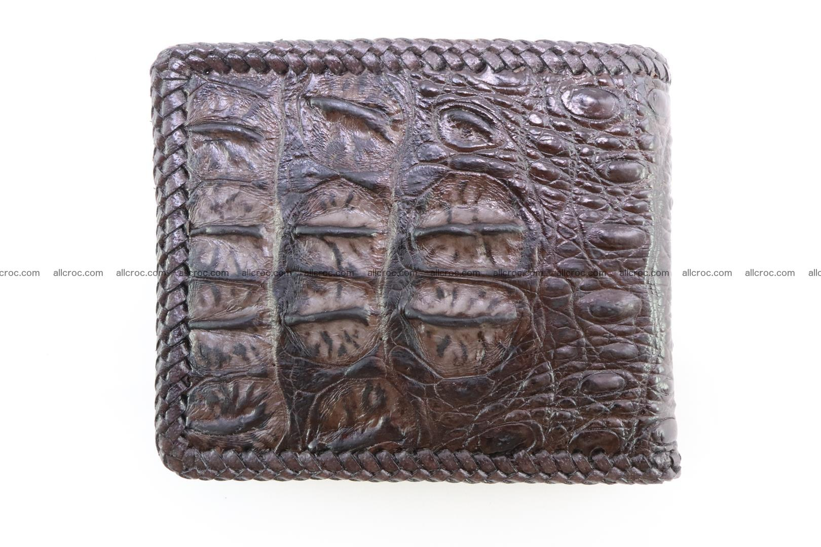 Genuine crocodile hornback wallet 116 Foto 5