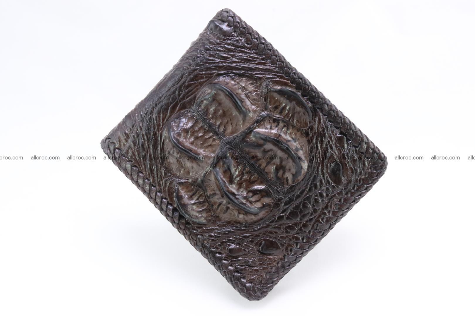 Genuine crocodile hornback wallet 116 Foto 1