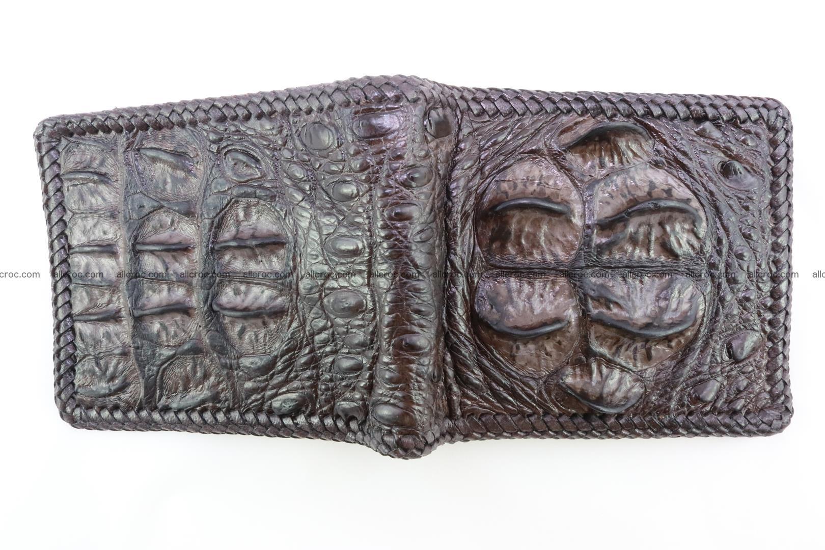 Genuine crocodile hornback wallet 116 Foto 2