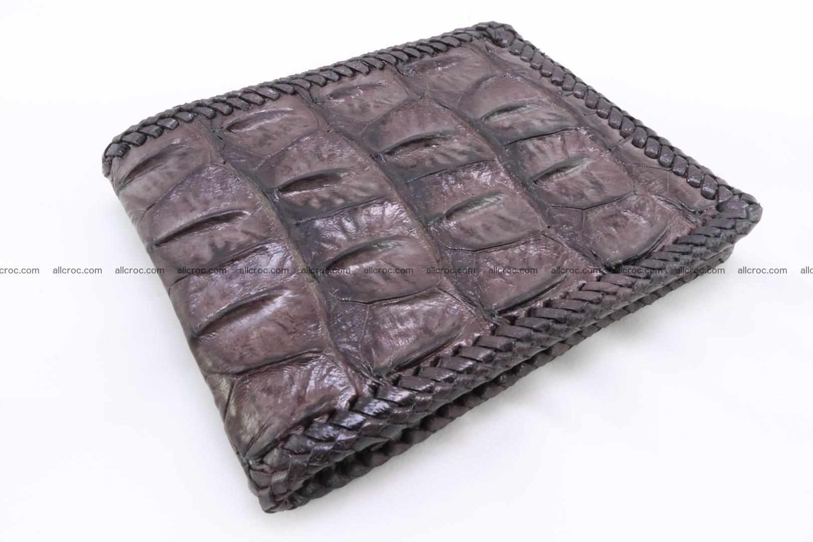 Genuine crocodile hornback wallet 115 Foto 0
