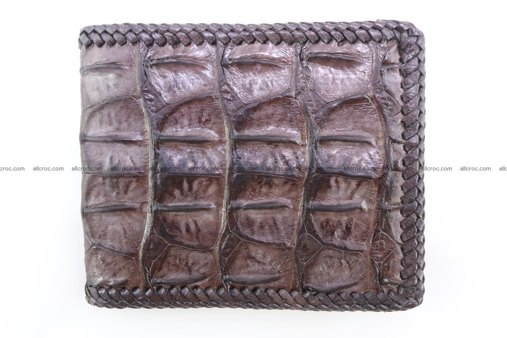 Genuine crocodile hornback wallet 115 Foto 2