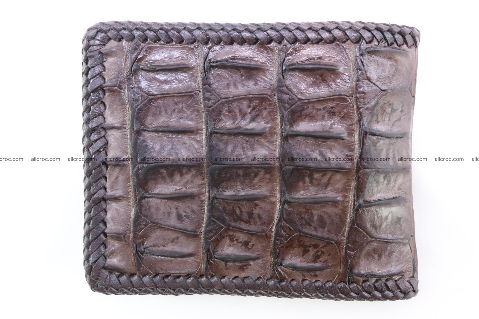 Genuine crocodile hornback wallet 115 Foto 4