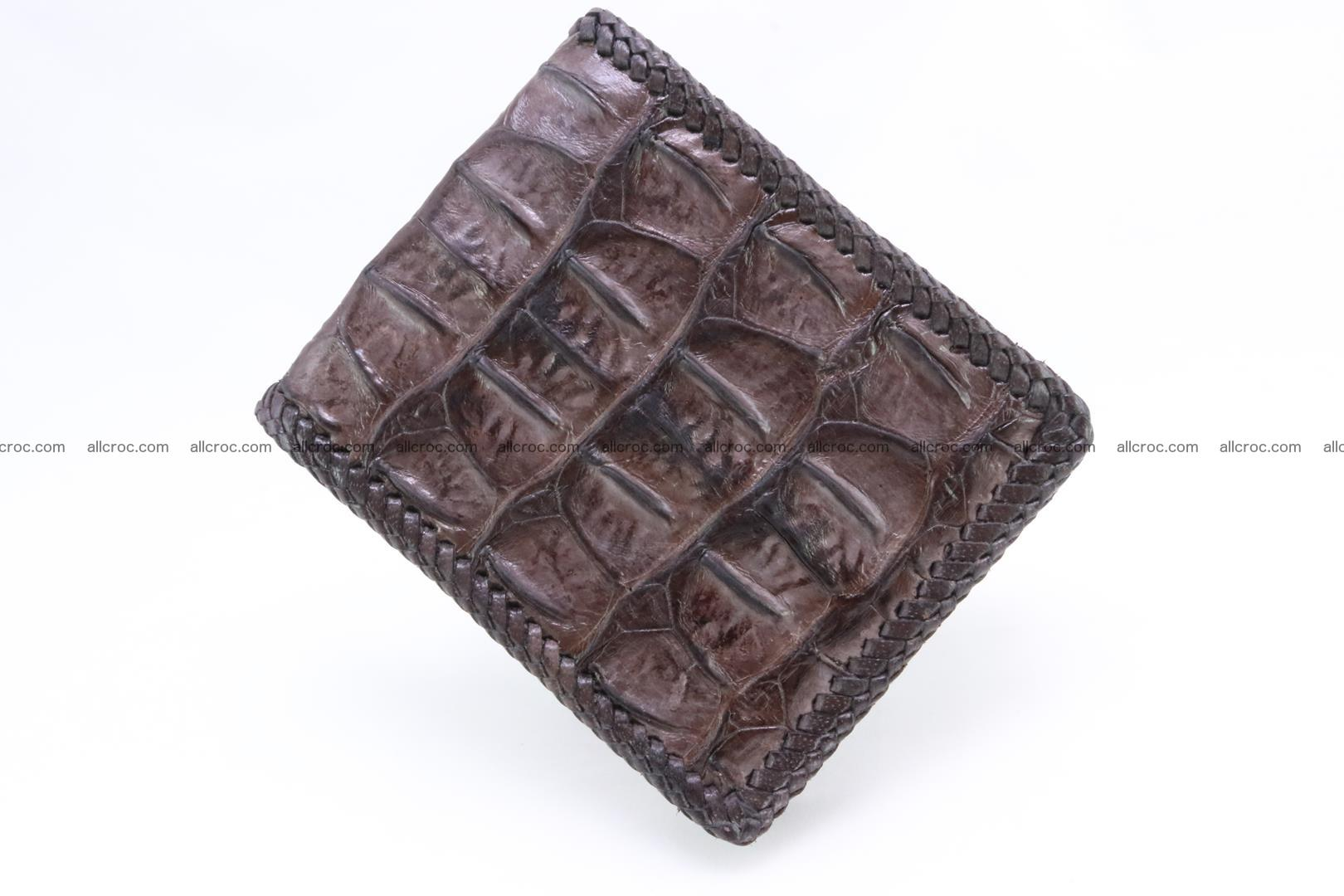 Genuine crocodile hornback wallet 115 Foto 3