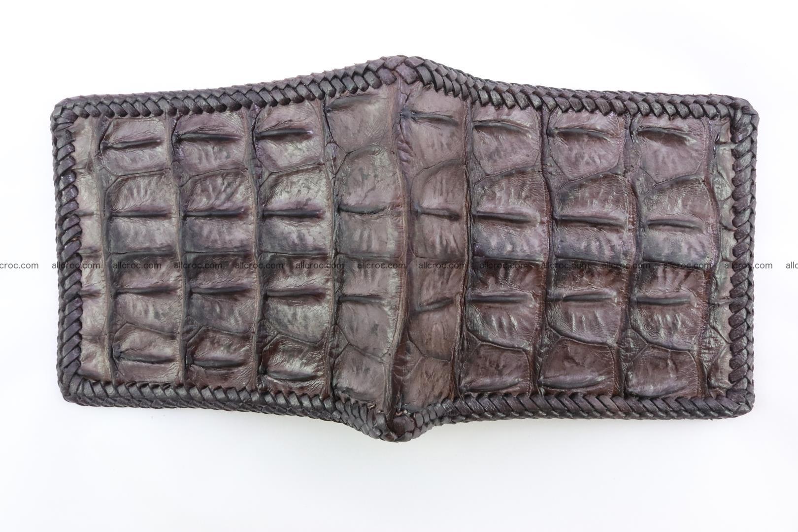 Genuine crocodile hornback wallet 115 Foto 5