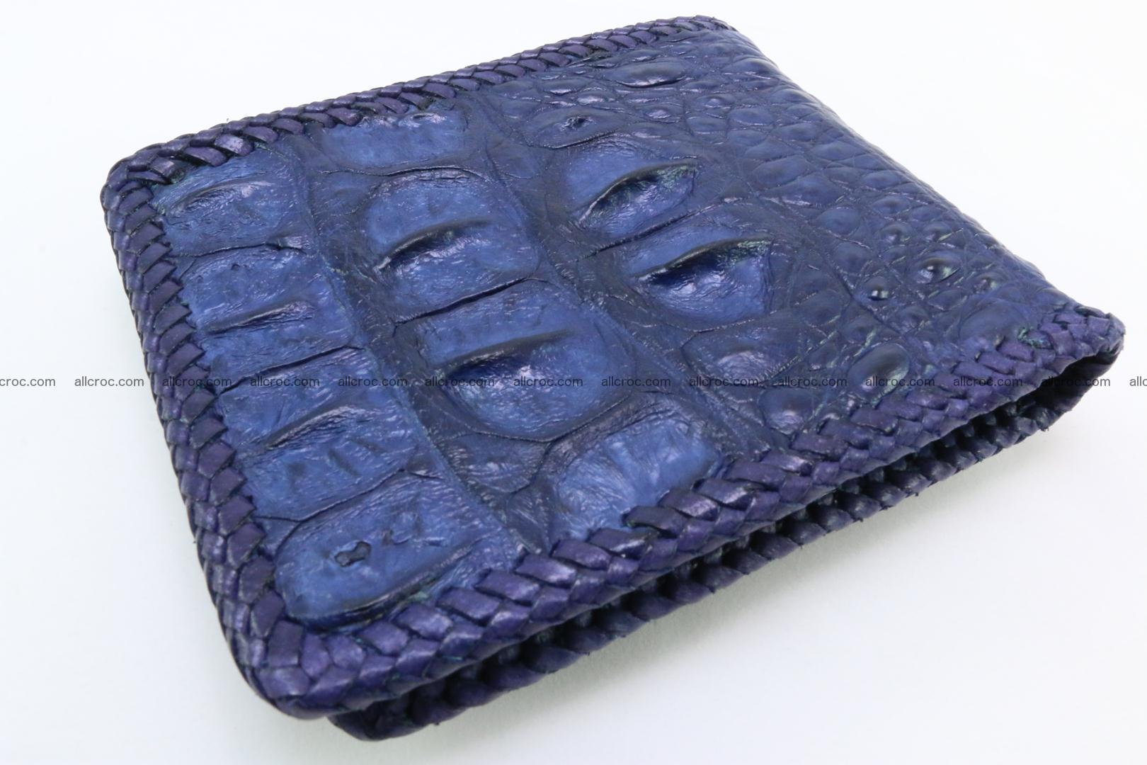 Genuine crocodile hornback wallet 119 Foto 1
