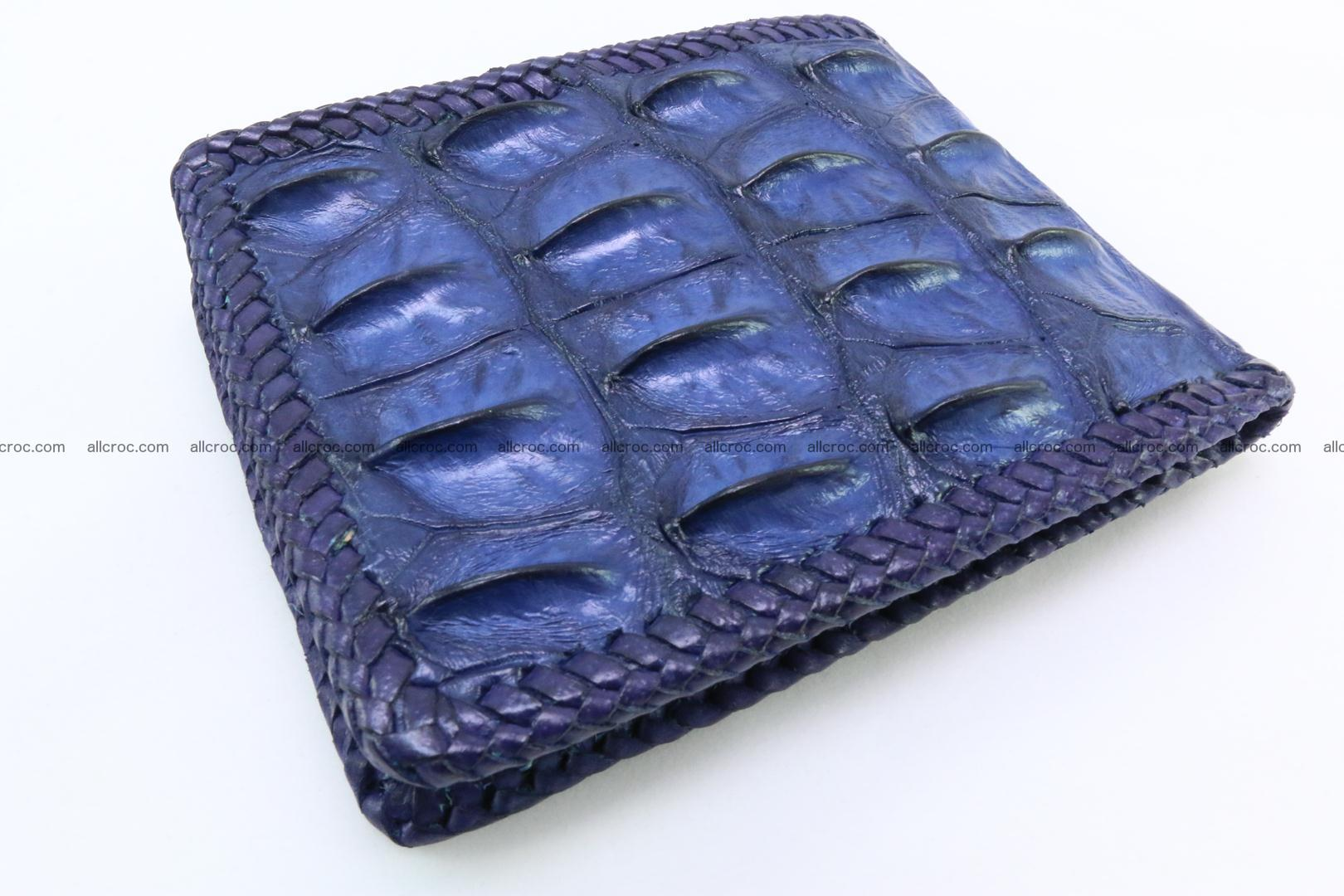 Genuine crocodile hornback wallet 120 Foto 1