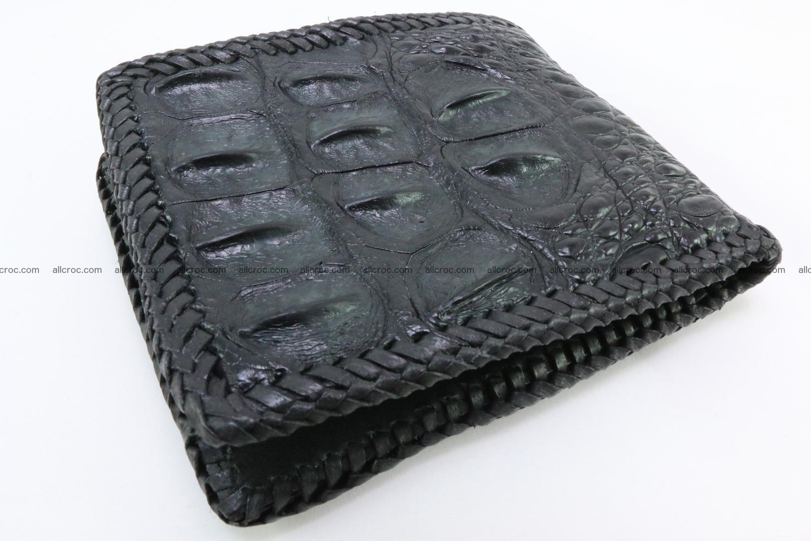 Genuine crocodile hornback wallet 122 Foto 1