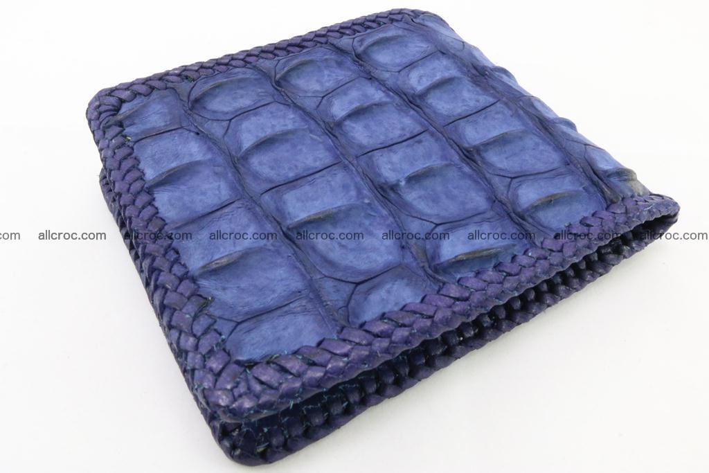 Genuine crocodile hornback wallet 118 Foto 1