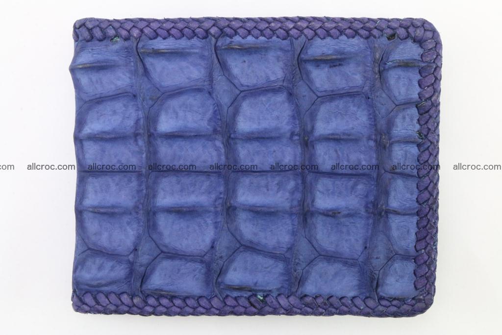Genuine crocodile hornback wallet 118 Foto 3
