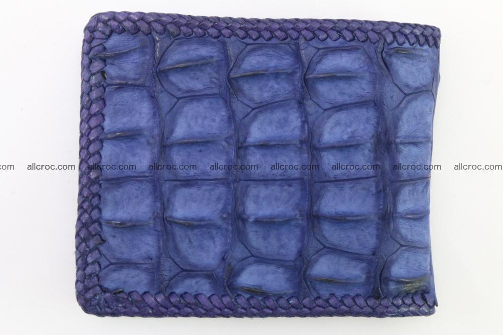 Genuine crocodile hornback wallet 118 Foto 4