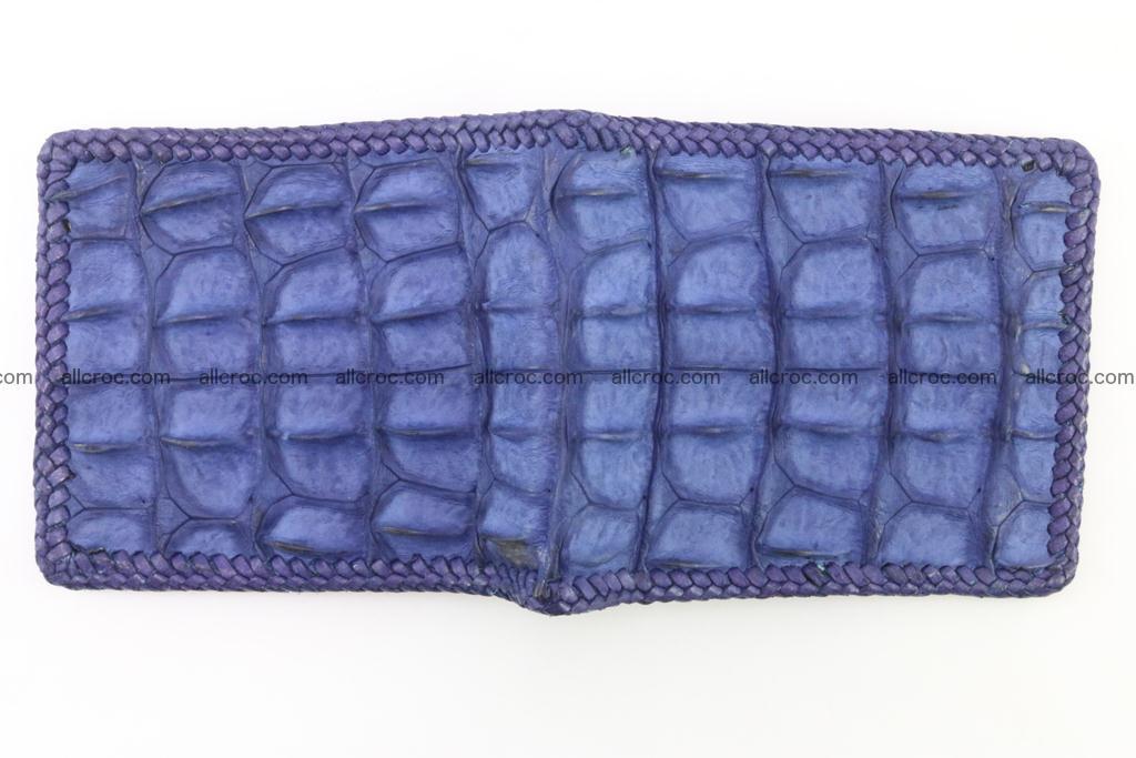 Genuine crocodile hornback wallet 118 Foto 5