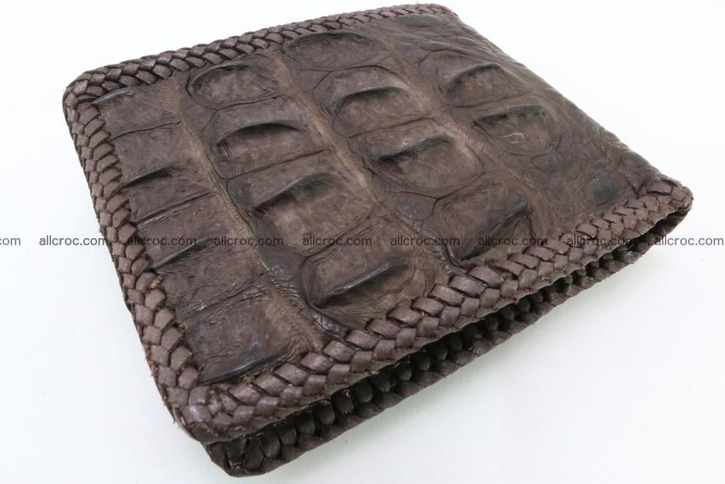 Genuine crocodile hornback wallet 113 Foto 1