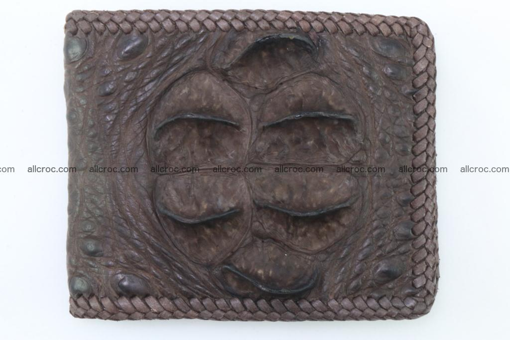 Genuine crocodile hornback wallet 113 Foto 2
