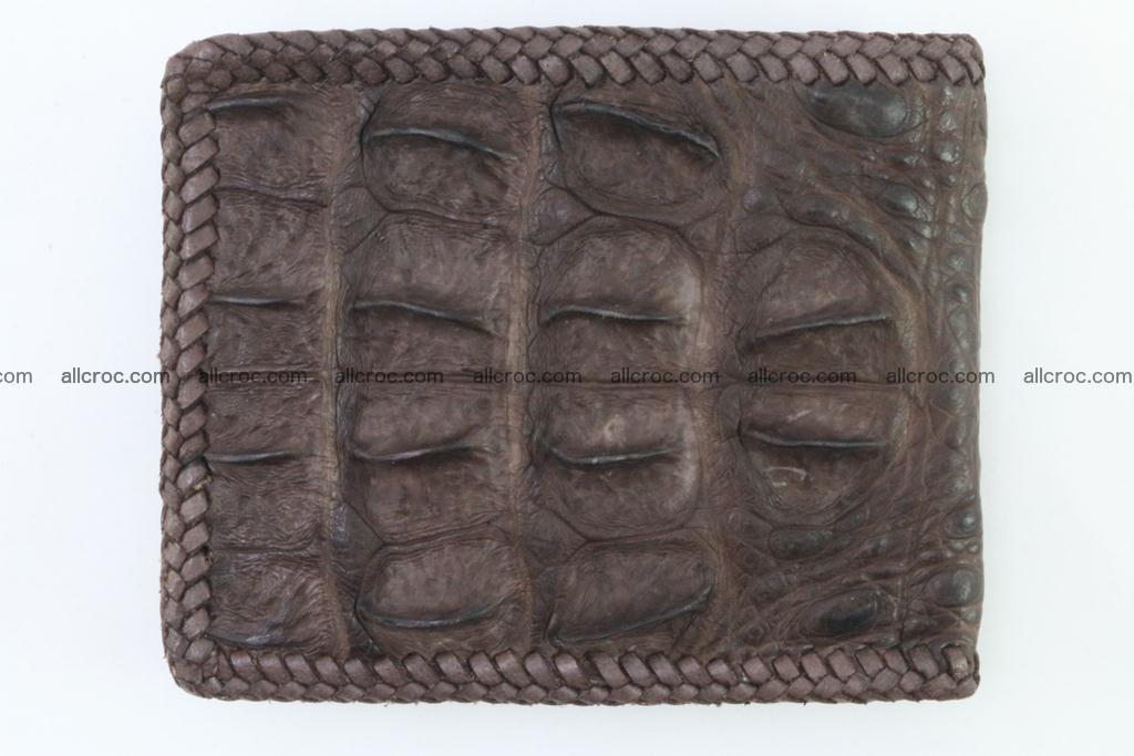 Genuine crocodile hornback wallet 113 Foto 3