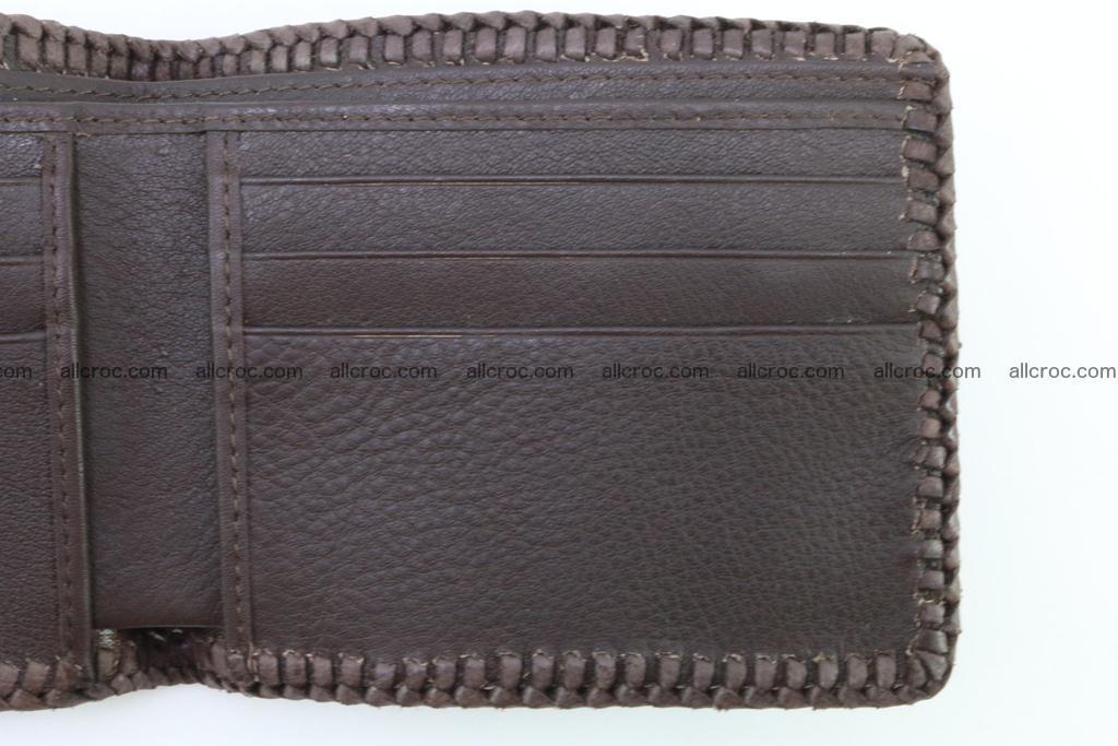 Genuine crocodile hornback wallet 114 Foto 8
