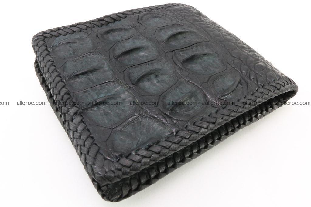 Genuine crocodile hornback wallet 121 Foto 1