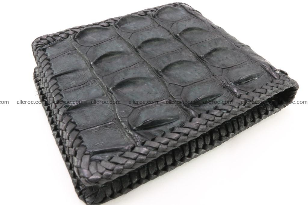 Genuine crocodile hornback wallet 124 Foto 1