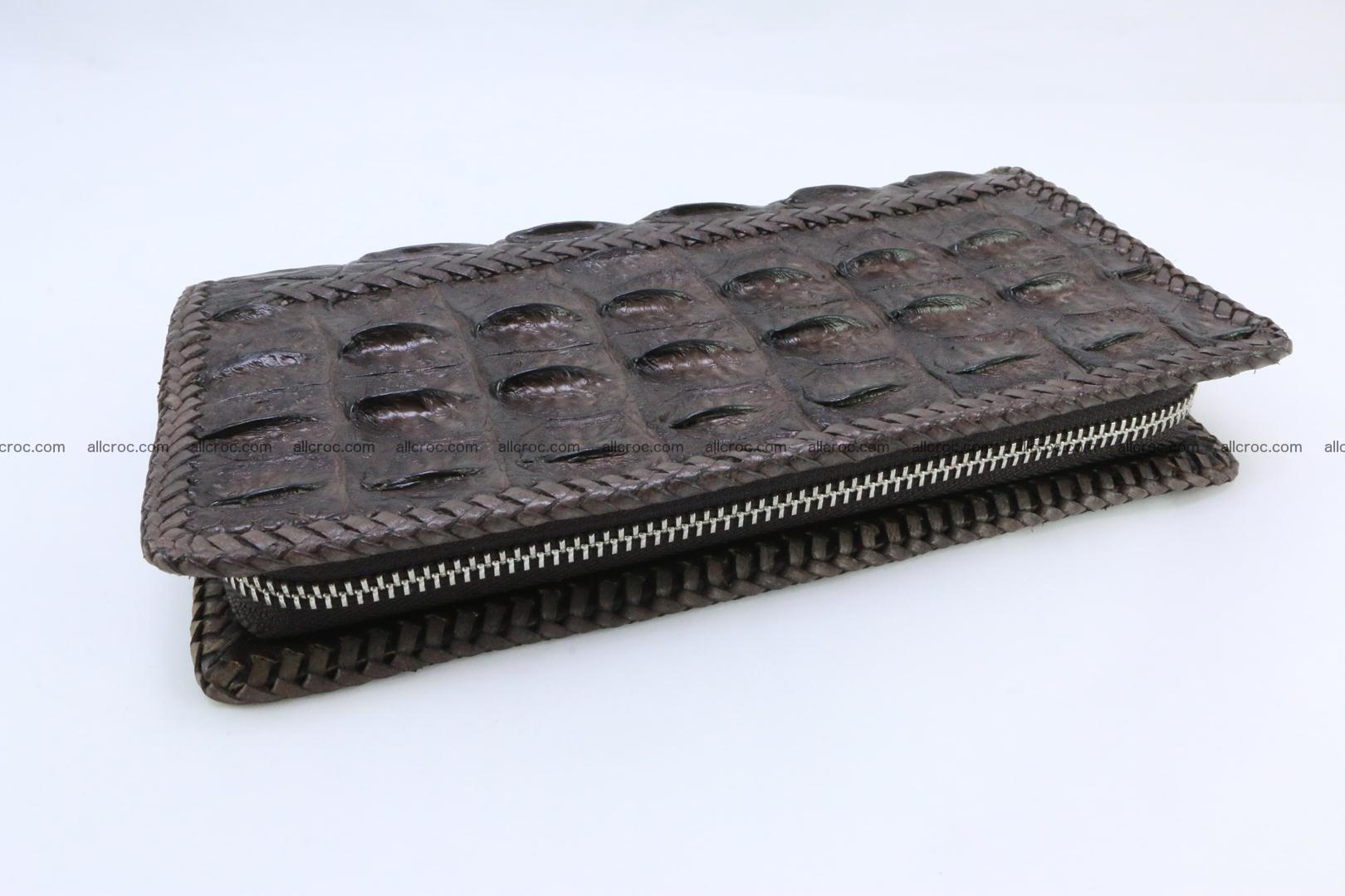 Genuine crocodile hornback wallet with zip 108 Foto 6