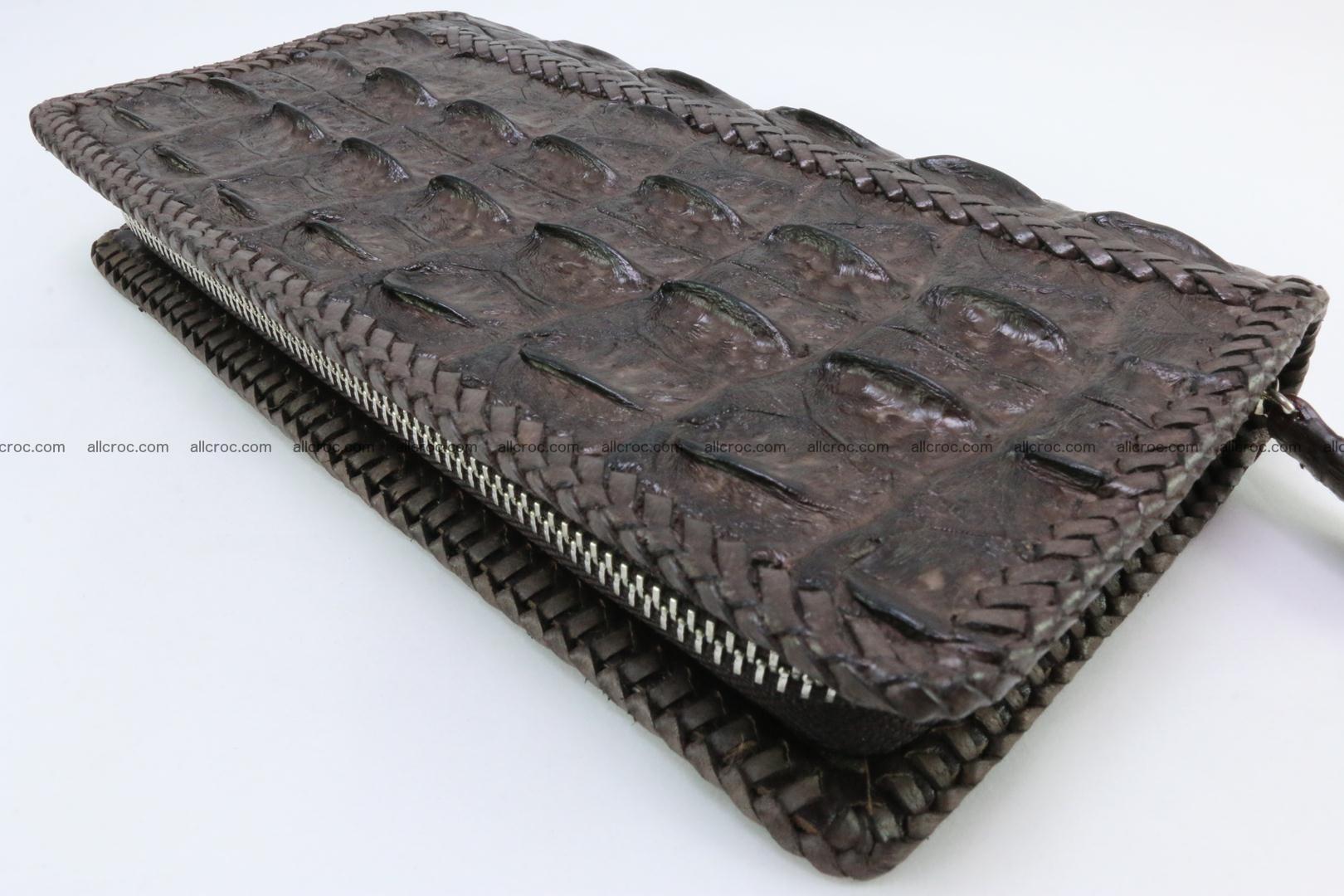 Genuine crocodile hornback wallet with zip 108 Foto 1