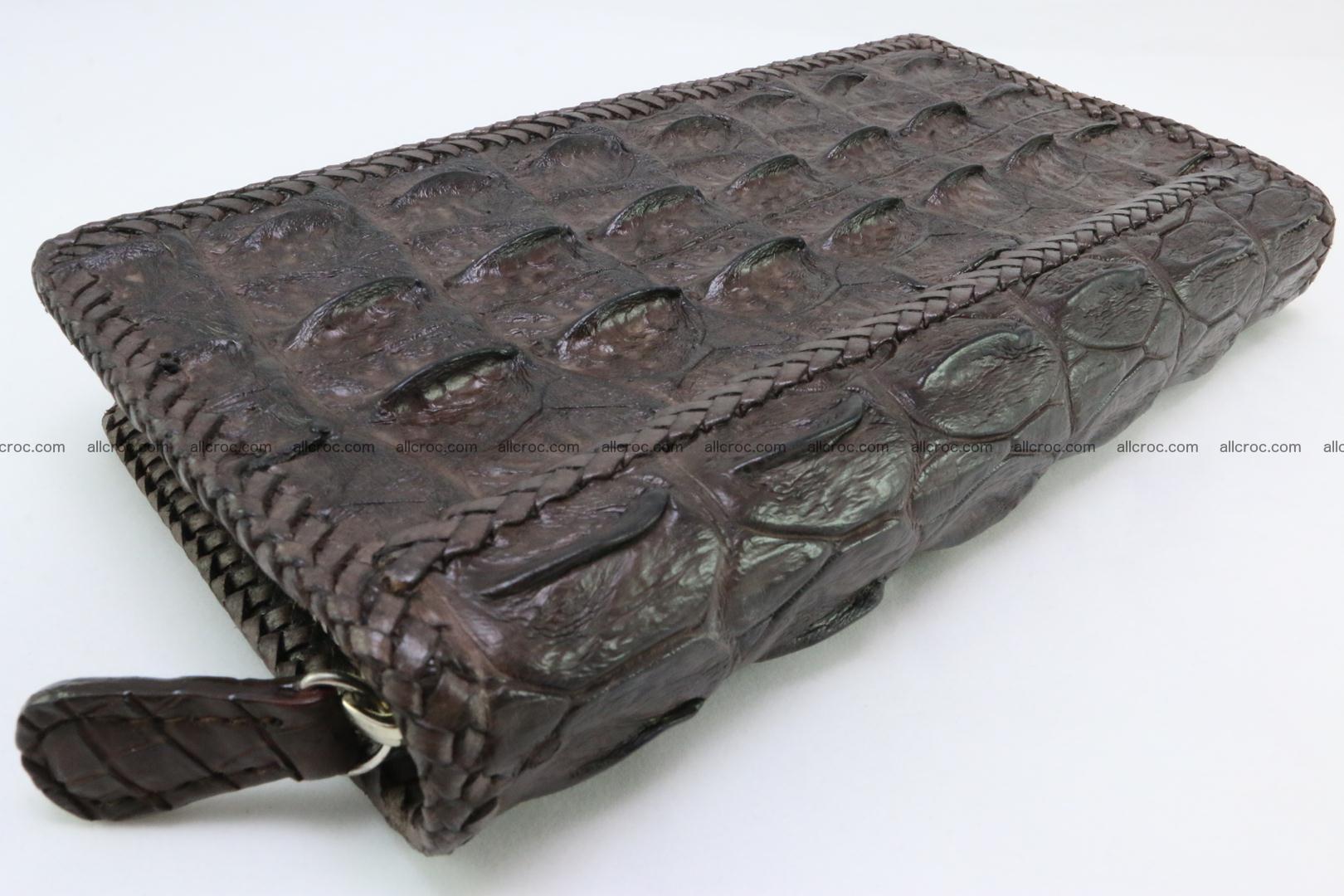 Genuine crocodile hornback wallet with zip 108 Foto 8