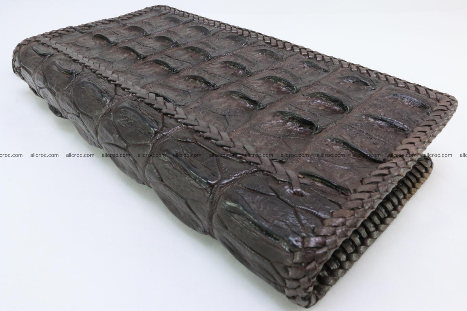 Genuine crocodile hornback wallet with zip 108 Foto 9