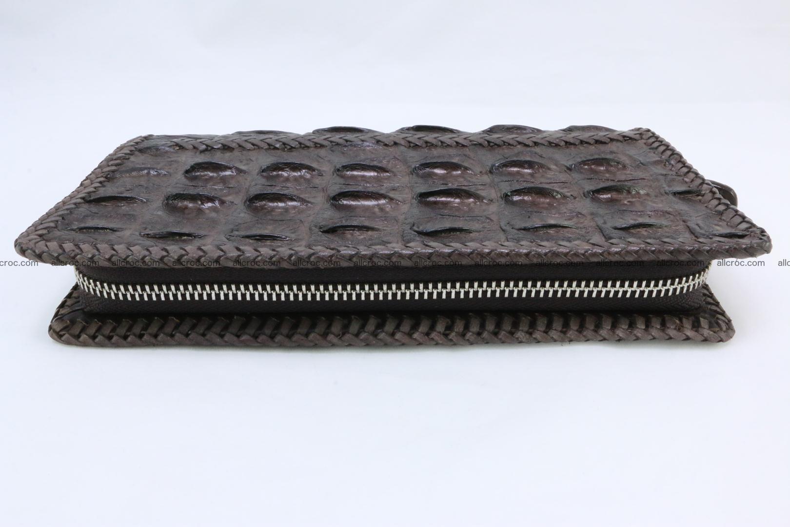 Genuine crocodile hornback wallet with zip 108 Foto 7