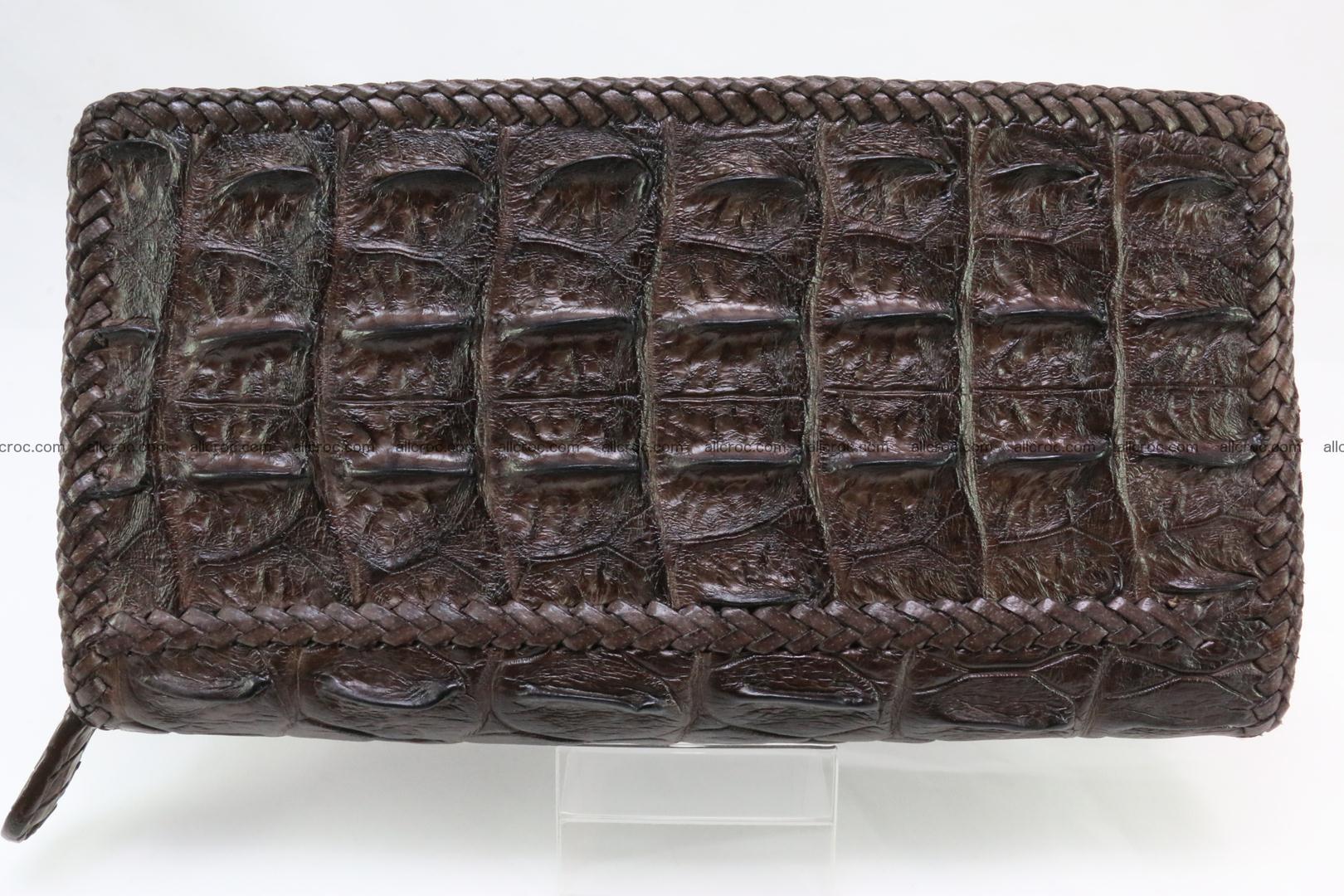 Genuine crocodile hornback wallet with zip 108 Foto 2