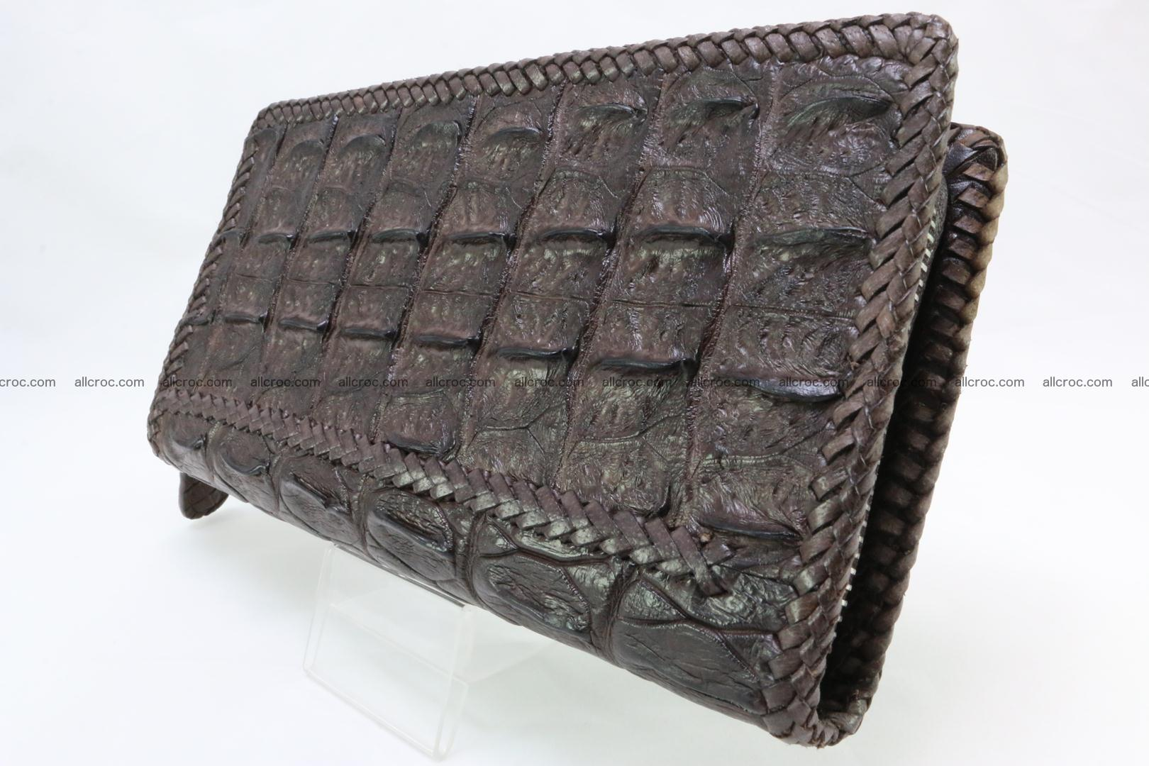 Genuine crocodile hornback wallet with zip 108 Foto 4