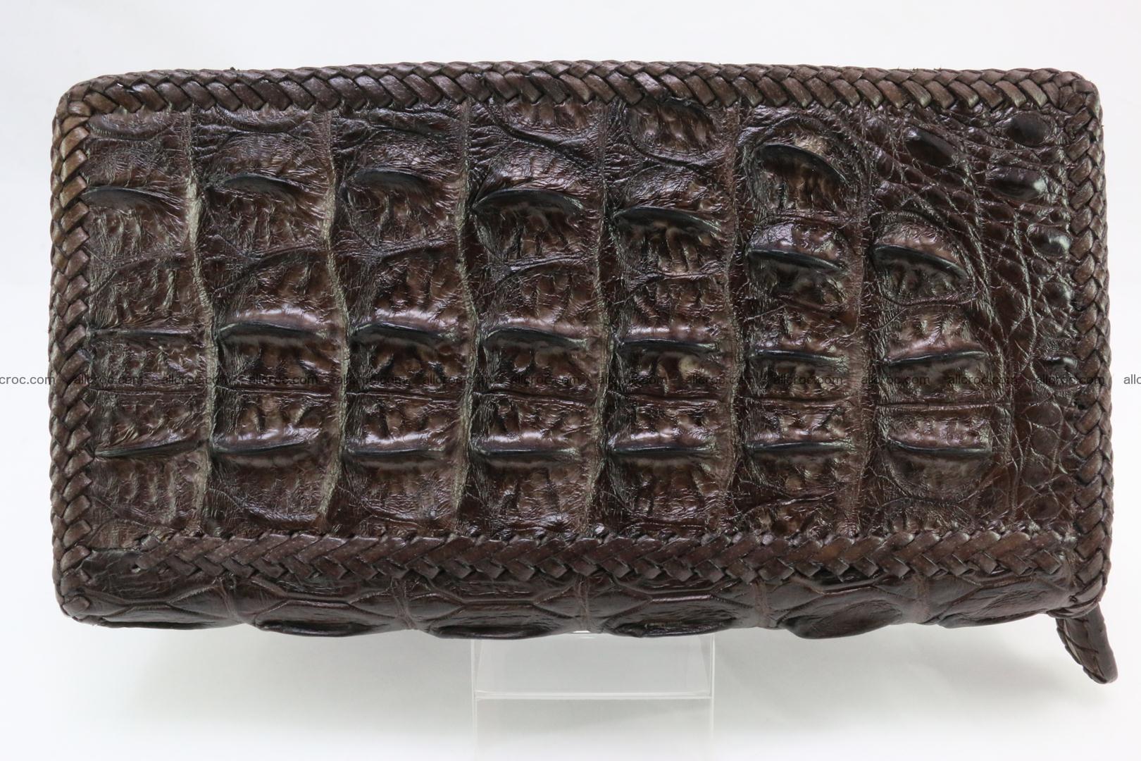 Genuine crocodile hornback wallet with zip 108 Foto 3