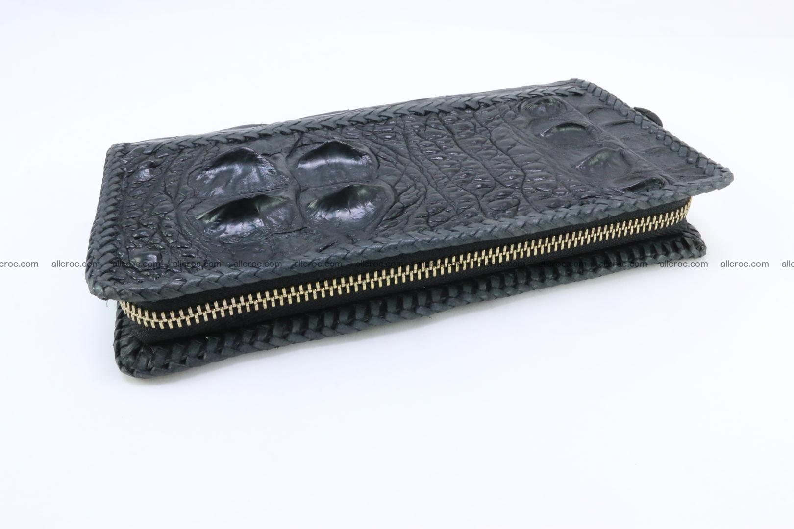 Genuine crocodile hornback wallet with zip 109 Foto 5
