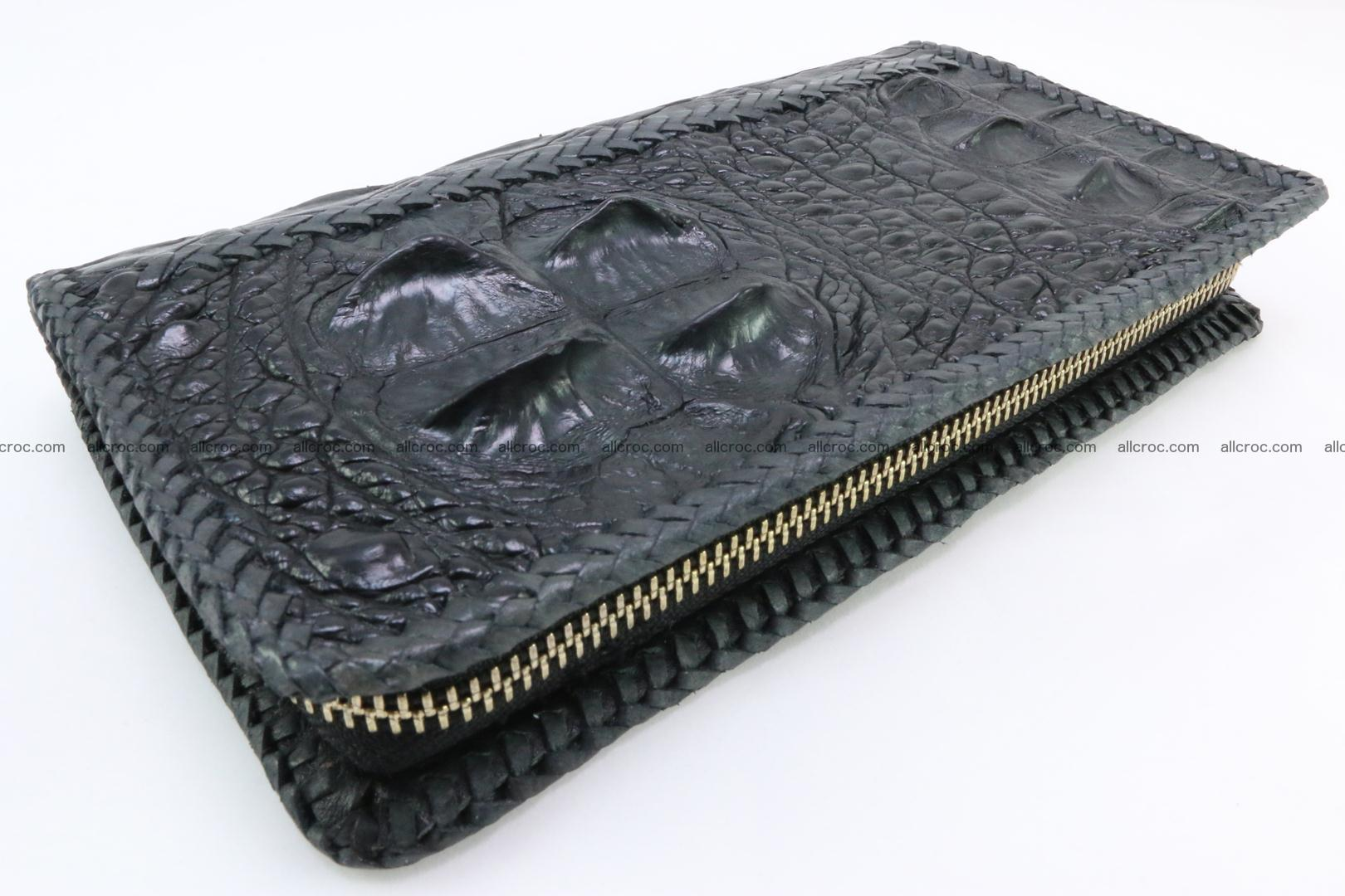 Genuine crocodile hornback wallet with zip 109 Foto 0