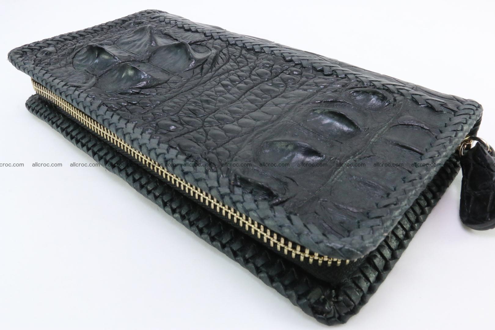 Genuine crocodile hornback wallet with zip 109 Foto 8