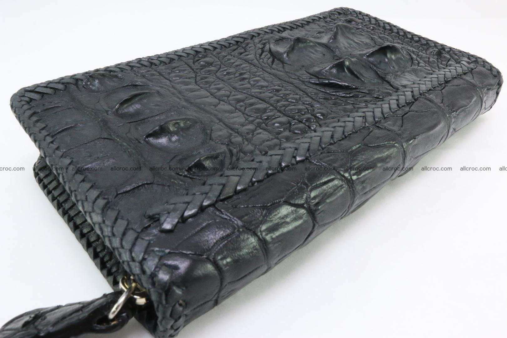 Genuine crocodile hornback wallet with zip 109 Foto 9
