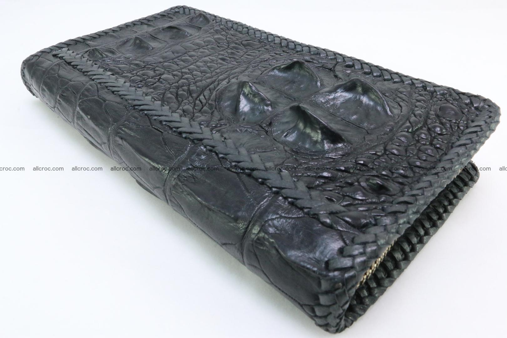 Genuine crocodile hornback wallet with zip 109 Foto 10