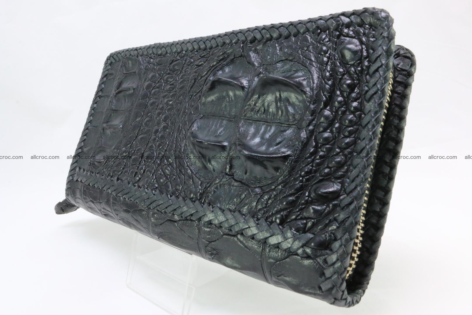 Genuine crocodile hornback wallet with zip 109 Foto 3
