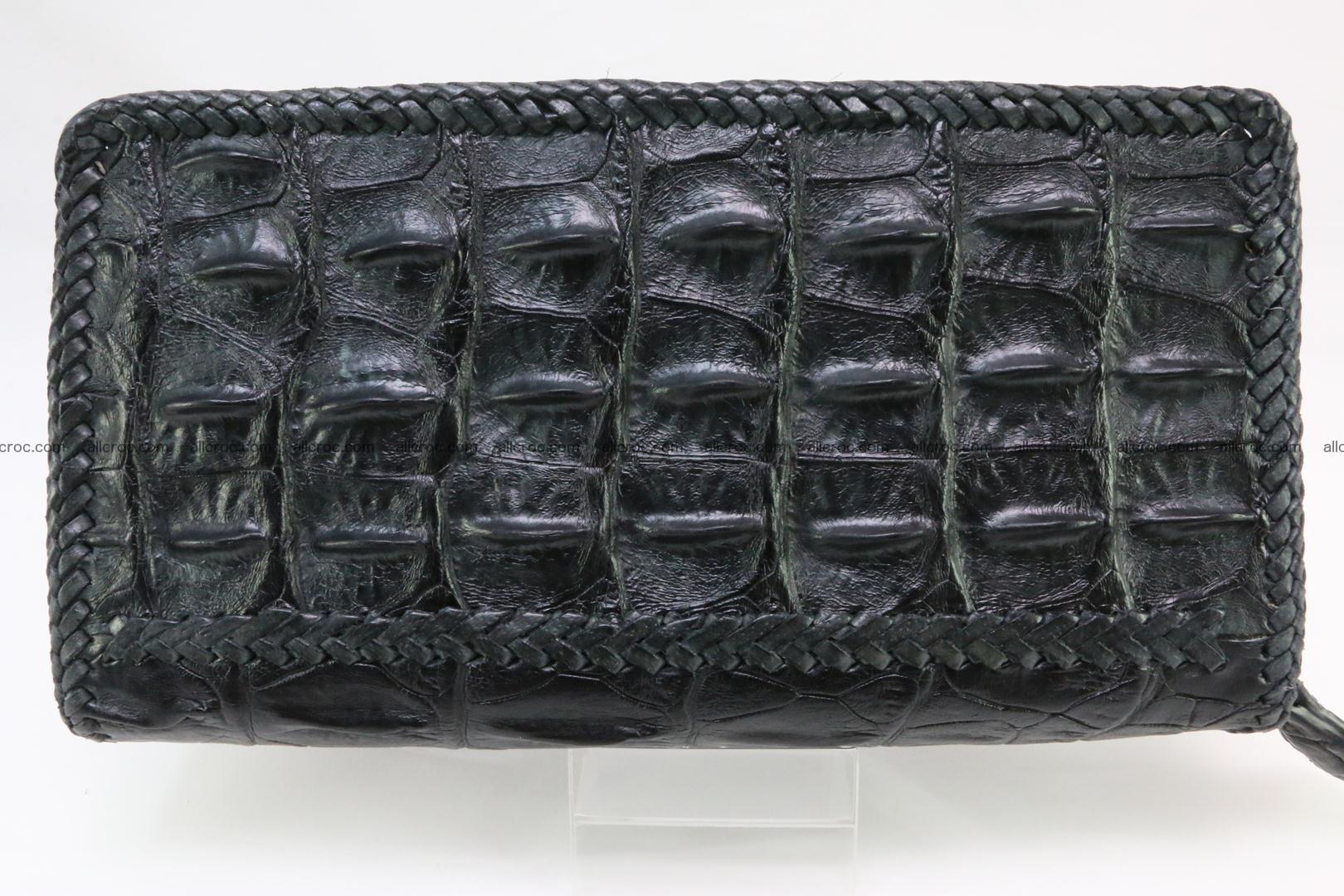 Genuine crocodile hornback wallet with zip 109 Foto 2