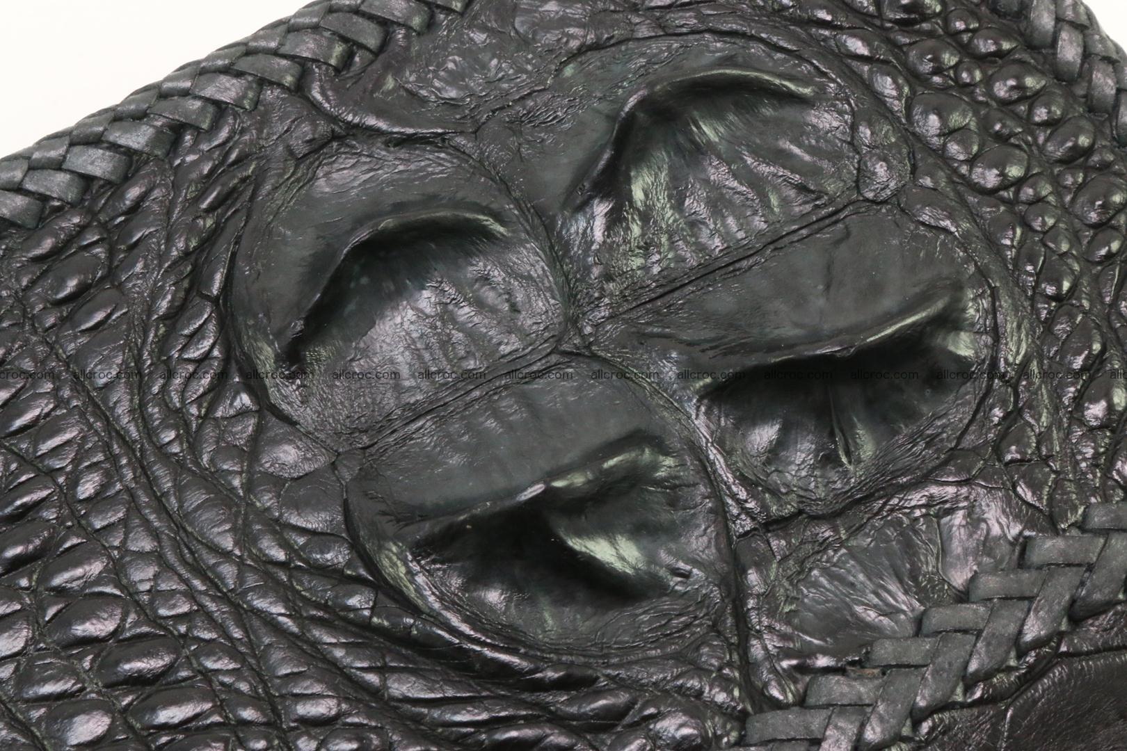 Genuine crocodile hornback wallet with zip 109 Foto 4