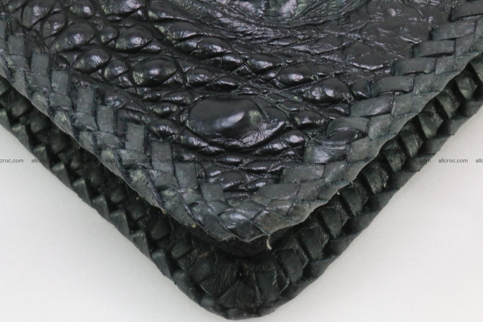 Genuine crocodile hornback wallet with zip 109 Foto 11