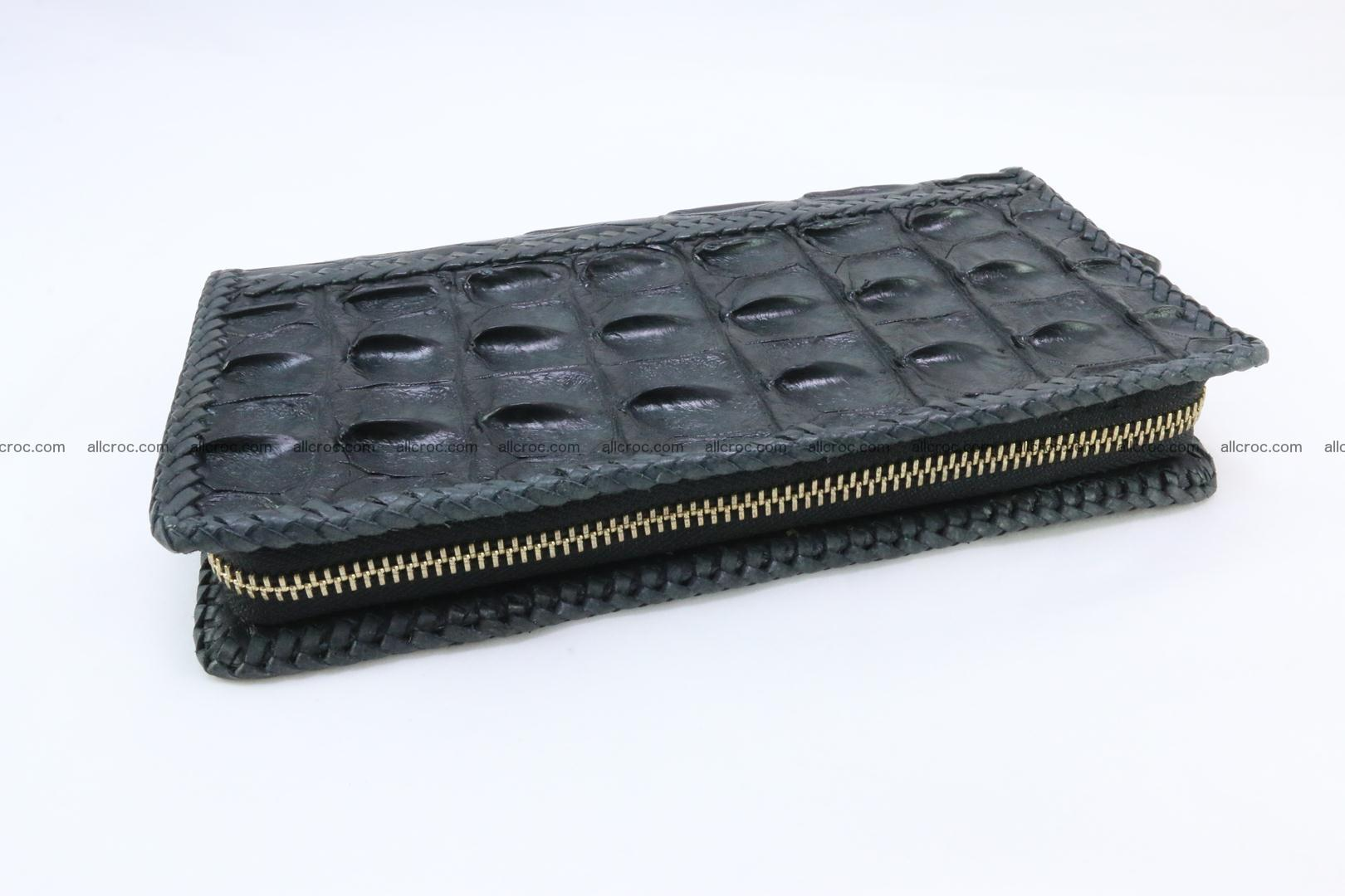 Genuine crocodile hornback wallet with zip 110 Foto 6