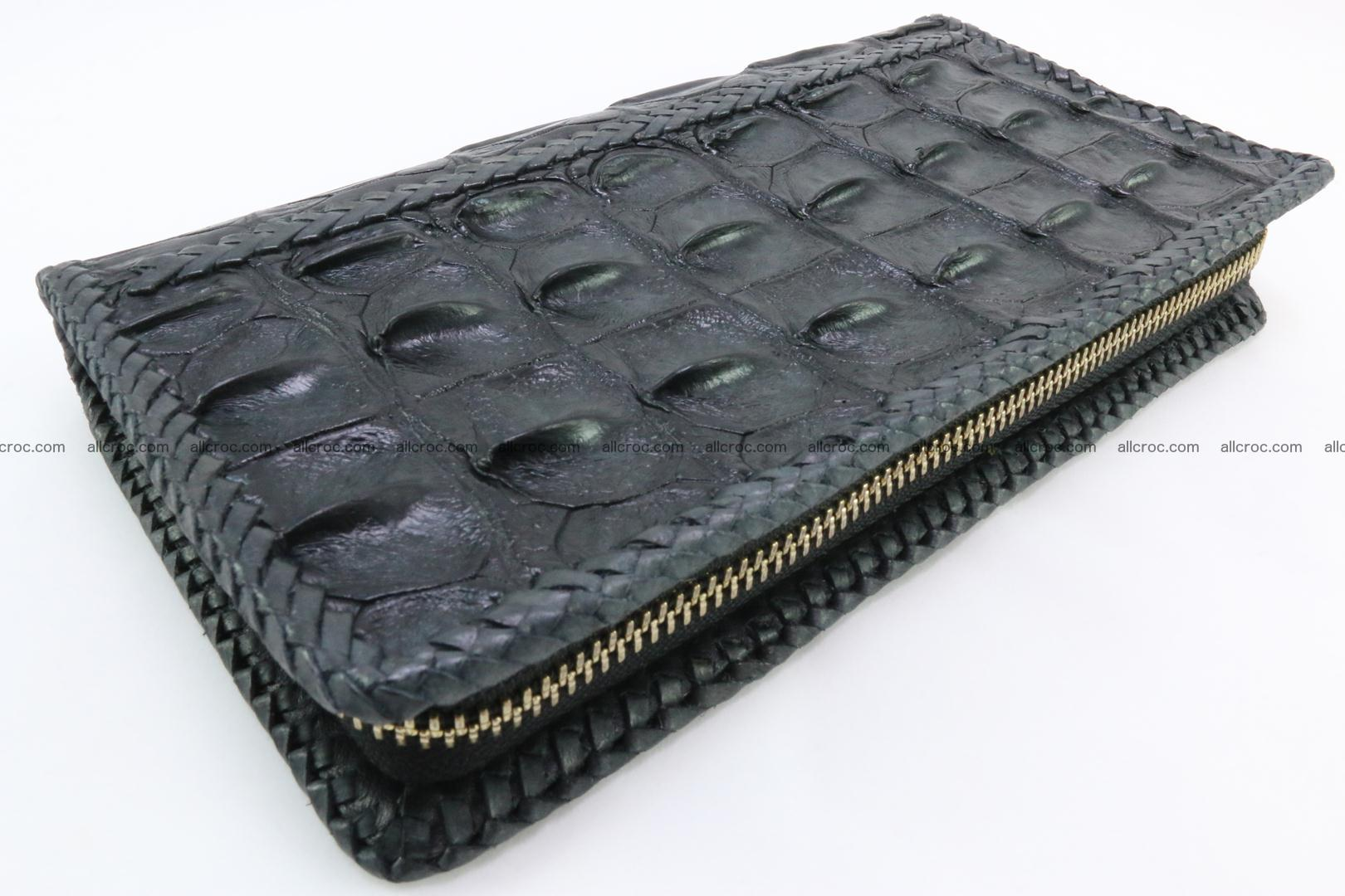 Genuine crocodile hornback wallet with zip 110 Foto 0