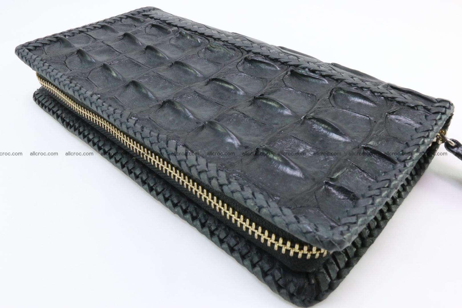 Genuine crocodile hornback wallet with zip 110 Foto 5