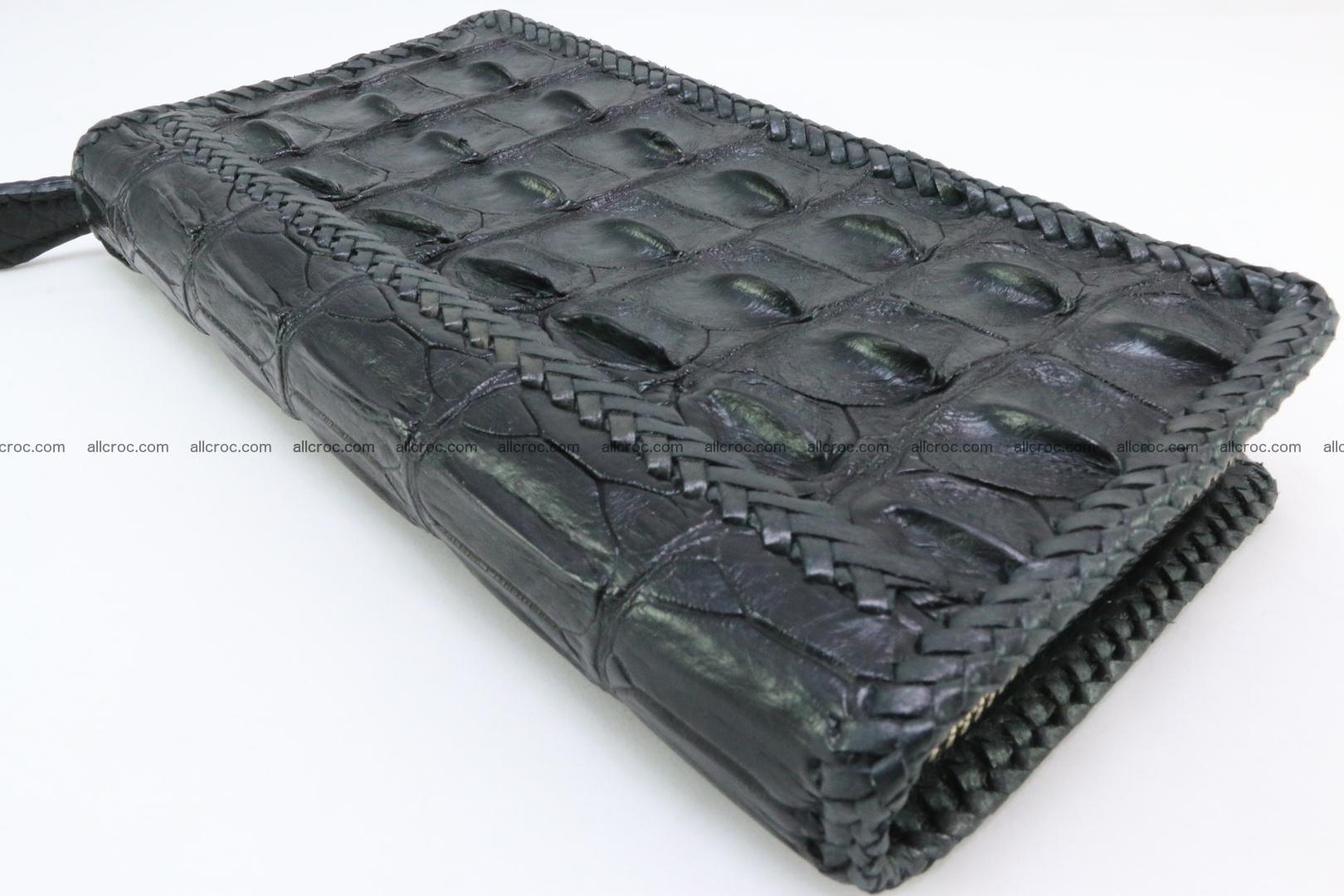 Genuine crocodile hornback wallet with zip 110 Foto 8